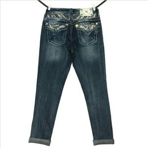 Miss Me Jeans Signature Cuffed Skinny 28x27 Stretc
